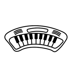 piano drawn isolated icon vector image vector image