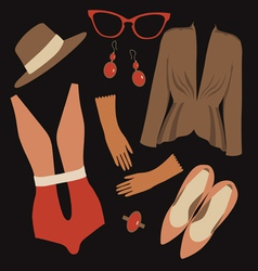 Retro fashion pattern vector image