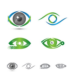 set of logos and icons of eye logo concept vector image vector image
