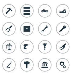 Set of simple construction vector