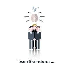 Team brainstorm group vector