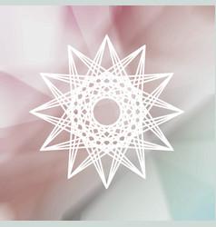 tribal modern sign over blurred background vector image