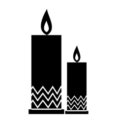 Two candle icon simple style vector image vector image