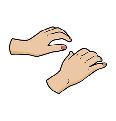 woman hands vector image vector image