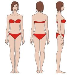 Woman figure vector