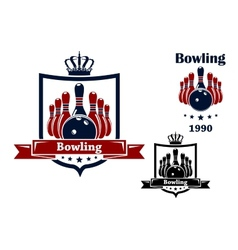 Bowling club emblem or symbol vector image