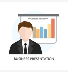 Business presentation icon flat design vector