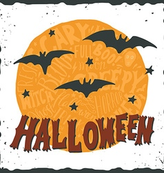Hand drawn happy halloween greeting card vector