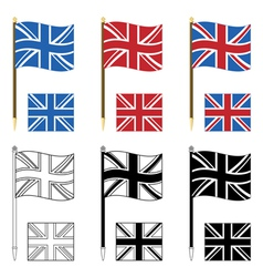 Union jacks vector