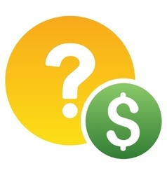 Dollar balance query gradient icon vector