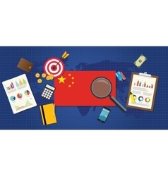 China economy economic rising vector