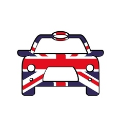 Flag and car icon united kingdom design vector