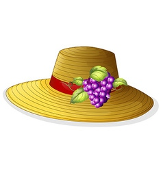 A fashionable hat with a fruit vector