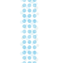 Abstract textile blue polka dots stripes vertical vector image