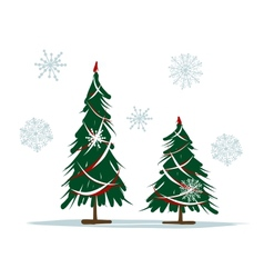 Big and small christmas trees for your design vector