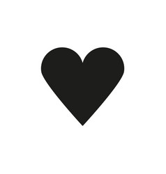 black heart icon vector image