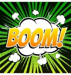 Boom comic book bubble text retro style vector