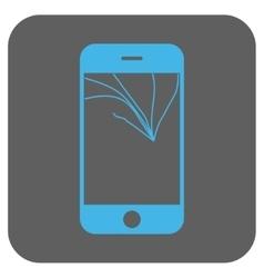 Broken smartphone screen rounded square vector