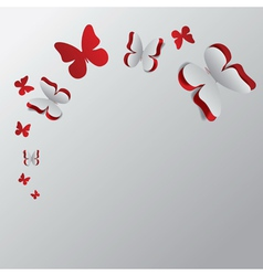 Card with cut out butterflies2 vector image vector image