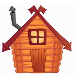 cartoon wooden little shack vector image