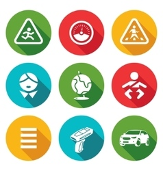 Child safety icons set vector