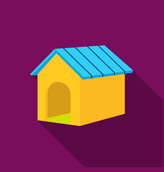 Doghouse icon in flat style for web vector