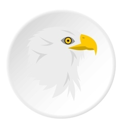 Eagle icon flat style vector