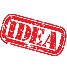 idea stamp vector image vector image