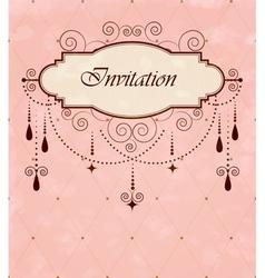 Invitation vintage card vector image vector image