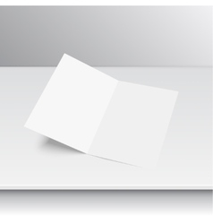 Lying blank two fold paper vector image