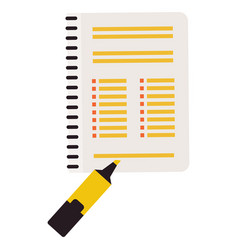marker and notebook vector image