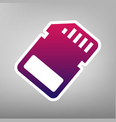 memory card sign purple gradient icon on vector image vector image