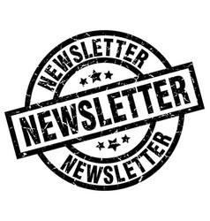 Newsletter round grunge black stamp vector