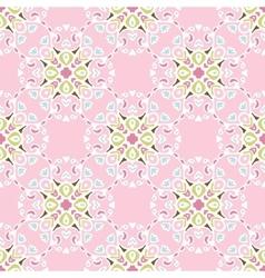 Pink flourishseamless pattern vector