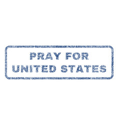 pray for united states textile stamp vector image vector image