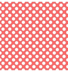 Red dots pattern seamless vector image vector image