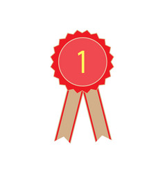 ribbon award vector image