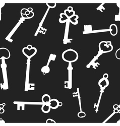 Seamless background with the keys vector image
