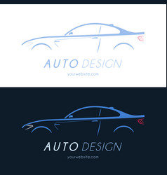 Sport coupe car logo vector