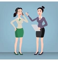 Successful business woman set vector image