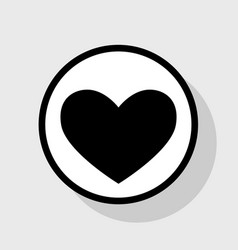 tie sign flat black icon in white circle vector image