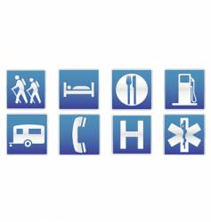 traffic signs icon set vector image vector image