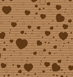 Valentine Day and colorful Heart on Colorful brown vector image vector image