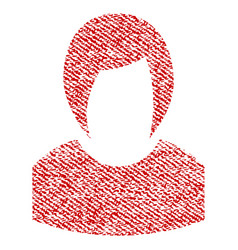 Woman profile fabric textured icon vector
