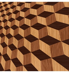 Wooden geometric background vector