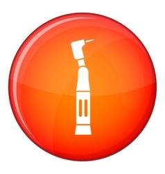 Dental drill icon flat style vector