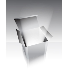 Gray box with light vector