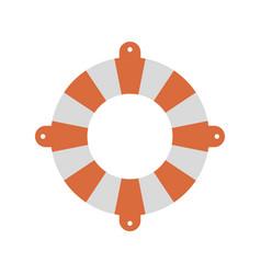 Color silhouette of flotation hoop vector