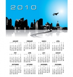 2010 city calendar vector image