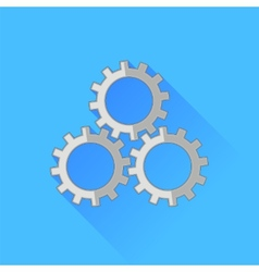 Set of gears icon vector